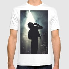Faris Badwan of The Horrors MEDIUM White Mens Fitted Tee