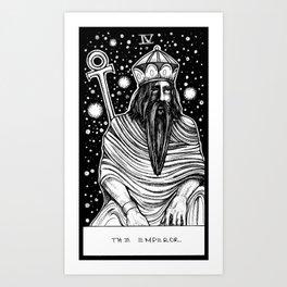 The Emperor Tarot Art Print