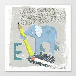 """E"" Canvas Print"