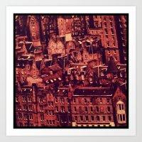 edinburgh Art Prints featuring Edinburgh by Molly Smiles