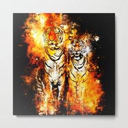 tiger couple ws Metal Print