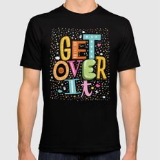 GET OVER IT Mens Fitted Tee SMALL Black