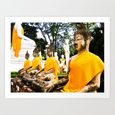 Buddhist Temple Art Print