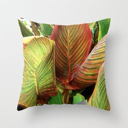 Sultry, Sexy Exotic Tropicana Leaves Throw Pillow