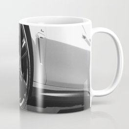 Black Rim Sports Car // White Paint Street Level B&W German Bavarian Motor Automobile Photograph Coffee Mug