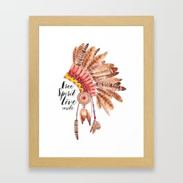 INDIAN--FEATHER Framed Art Print