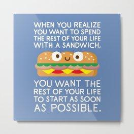 When Harry Met Sandwich Metal Print