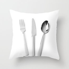 Fork, knife and spoon Throw Pillow