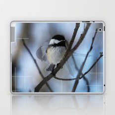 Black Capped Chickadee In Motion  Laptop & iPad Skin