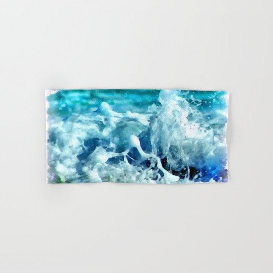 Sea Splash Watercolor Hand & Bath Towel