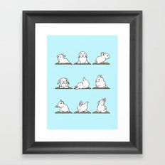 Bunnies Yoga Framed Art Print