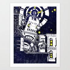 ROBO ATTACK! Art Print