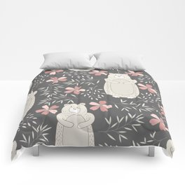 Bear and Flowers Comforters
