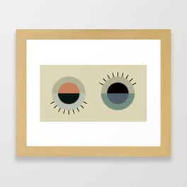 day eye night eye Framed Art Print