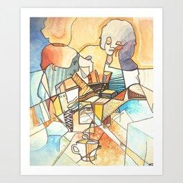 Cafe Society Art Print
