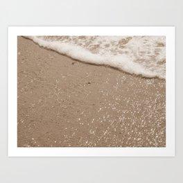 Sparkling Diamond Beach Art Print