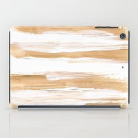 the strokes iPad Cases featuring Golden Strokes by Caitlin Workman