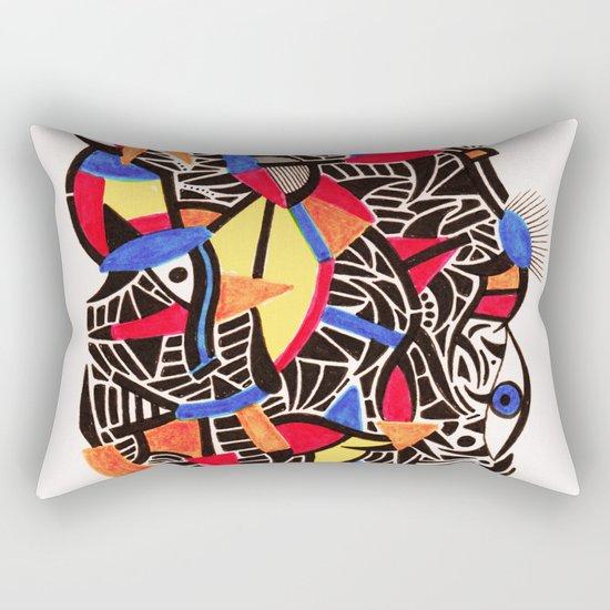 - romantic gate - Rectangular Pillow