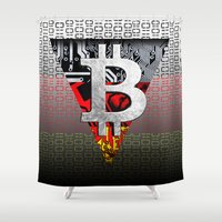 germany Shower Curtains featuring bitcoin germany by seb mcnulty