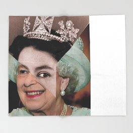 Queen Elizabeth II Throw Blanket