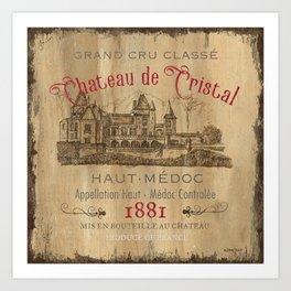 Barrel Wine Label 1 Art Print