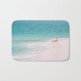 Pink Flamingo Beach Bath Mat