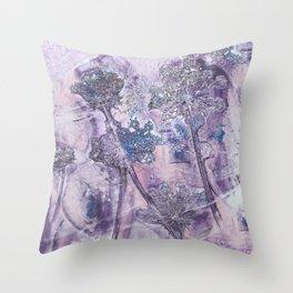 purple pimpinella Throw Pillow