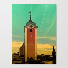 The village church of Neufelden V   architectural photography Canvas Print