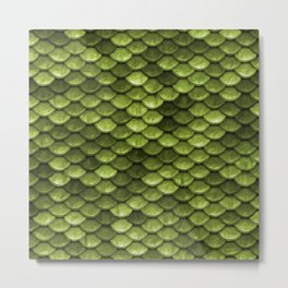 Mermaid Scales | Green with Envy Metal Print