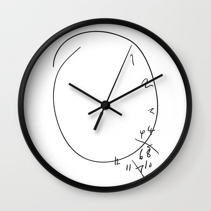 Savoureux Hannibal Clock Wall Clock by brucelovesyou Society6