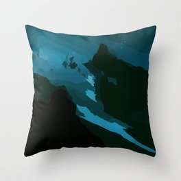 Outer space - Dolomites, Italy Throw Pillow