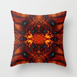 Fractal Art - Devil I Throw Pillow