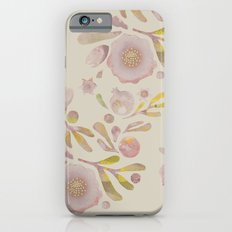 Granada Floral in Stone on grey Slim Case iPhone 6s