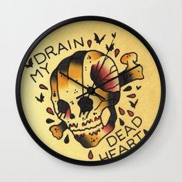 Drain My Dead Heart Wall Clock