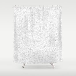 Sketchy Trees Shower Curtain