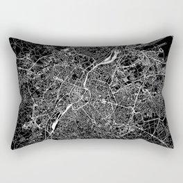 Brussels Black Map Rectangular Pillow