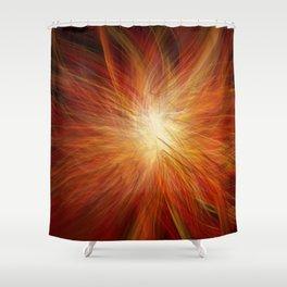 Abstract Sunburst Shower Curtain
