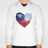 chile Hoodies featuring Chile Heart by Favio Torres
