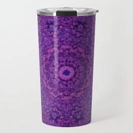 Purple Fuzzy Mandala Travel Mug