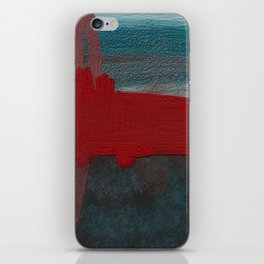 Blue and Red Abstract iPhone Skin