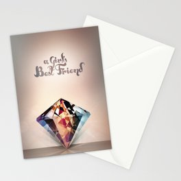DIAMOND IS A GIRLS BEST FRIEND Stationery Cards