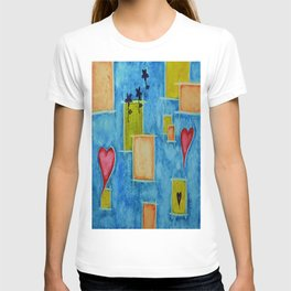 Shapes 3 Abstract Art by Saribelle Rodriguez T-shirt