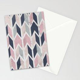 Aged Chevron Pattern Stationery Cards