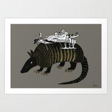 Armadillo Adventure Art Print