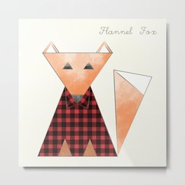 Flannel Fox Metal Print