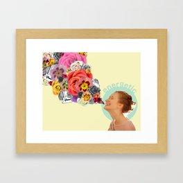 feeling energetic Framed Art Print