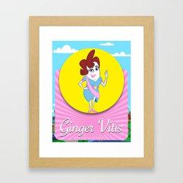 Ginger Vitis Framed Art Print