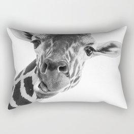 Giraffe Portrait // Grey Wild Animal Cute Zoo Safari Madagascar Wildlife Nursery Decor Ideas Rectangular Pillow