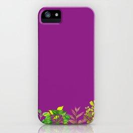 Indoor Plant Collection in Magenta II iPhone Case