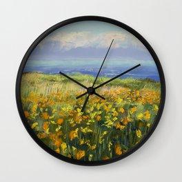Seaside Poppies Wall Clock